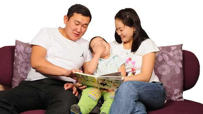 Image result for Монгол аав хүүхэдтэйгээ ном унших